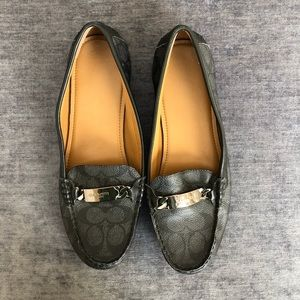 Coach Logo Loafers Size 9.5